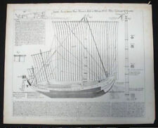 BLUEPRINT NAUTICAL MUSEUM, SHIP PLAN #11 'Souvenir de Marine' Geisendorfer 1890