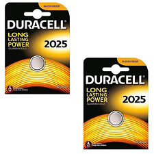 2 X Duracell CR2025 3V Lithium Coin Cell Battery DL2025 BR2025 SB-T14
