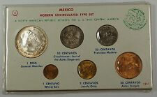 Federation of Mexico Modern Uncirculated Type Set UNC Coins in Protective Sleeve