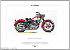 HARLEY-DAVIDSON XL SPORTSTER - Fine Art Print - Classic American Motorcycle 1957