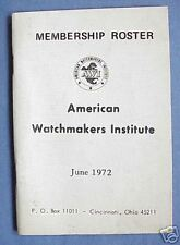 Watchmaker Roster Watch. Vintage 1972 American