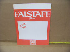 Falstaff Beer Advertising Poster, 12 Pack Cans display sign, man cave