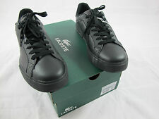 NIB Lacoste Skateboard/Tennis Marling Leather/Synthetic Shoes Black sz. 11.5