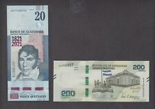 HONDURAS+GUATEMALA  20 QUETZALES + 200 LEMPIRAS COMMEMORATIVE SET  UNCIRCULATED
