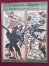"""L'ASSIETTE AU BEURRE """"JOURNALISTES"""" par POULBOT - MAI 1903 N°111"""