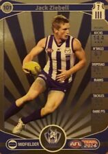 2014 afl TEAMCOACH GOLD NORTH MELBOURNE JACK ZIEBELL #101 CARD FREE POST