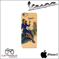 COVER CUSTODIA RIGIDA ORIGINALE VESPA VINTAGE CON STAMPA PIN-UP PER IPHONE 5