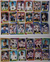 1990 Topps New York Yankees Team Set of 30 Baseball Cards