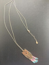 Long Beaded Owl Necklace