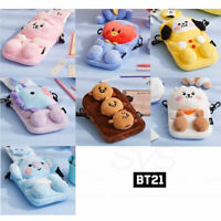 BTS BT21 Official Authentic Goods Plush Cross Bag Baby Ver + Tracking Number