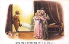 POSTCARD  COMIC   Children  Related   WWI  Uniform     SPURGIN
