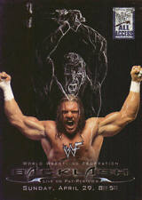 BACKLASH  2002 Fleer WWE PAY PER VIEW POSTER Insert Card #1PPV  TRIPLE H