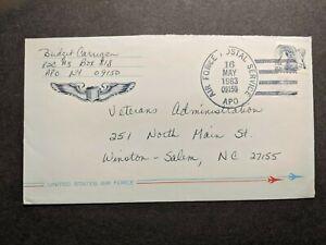 APO 09150 NEWBURY, ENGLAND, UK 1983 Air Force Cover