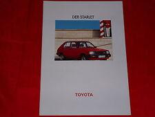 TOYOTA Starlet P6 Limousine + Combi Prospekt Brochure von 1983