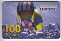 FRANCE  TELECARTE / PHONECARD  PREPAYEE .. 100F EUROTEL BATEAU VOILIER 07/98+N°
