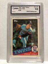 1985 TOPPS TIFFANY Frank Viola Card #266 Graded GMA 10 Gem Mint