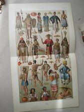 Vintage Print,OCEANIA COSTUMES,Racinet,1888