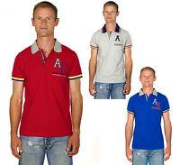 Ugholin Polo Homme Slim Fit Coton Piqué Uni Brodé Manches Courtes