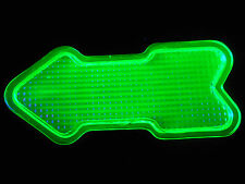 Green Vaseline glass Arrow Elevator car truck signal uranium yellow glows canary