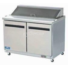 NEW Arctic Air Double Two Door Sandwich Prep Table Salad Refrigerator AST48R 12