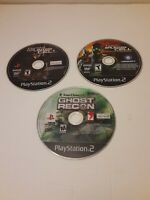 Sony PS2 Games LOT - Splinter Cell Pandora Tomorrow Ghost Recon discs only