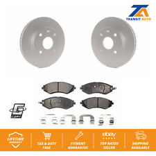 Front Brake Coated Disc Rotors & Ceramic Pad Suzuki Forenza Reno Chevrolet Optra