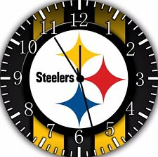 Pittsburgh Steelers Wall Clock Nice For Gift or Home Office Wall Decor F31