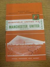 26/12/1964 Sheffield United v Manchester United  (Felt Pen Mark On Cover, Score