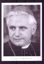 Autogrammkarte Joseph Ratzinger / Papst Benedikt XVI mit Originalunterschrift