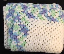 "Beautiful Afgan Crochet Blanket Throw  60' 43"" Throw Baby Shower Gift Unisex"