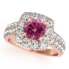 1.58 Carat  Pink Color Solitaire Diamond Ring 14k RG Valentine Day Spl. Sale
