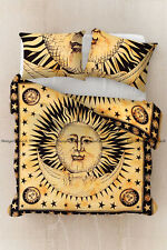 Indian Moon Print Mandala Duvet Doona Cover Cotton Bedding Comforter Quilt Cover