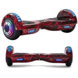 Hoverboard Rot Mehrfarbig Elektro Scooter Bluetooth LED Räder Lichter Für Kinder