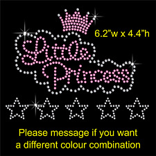 Little Princess Rhinestone Diamante Hotfix Iron on Transfer Motif + a Free Gift