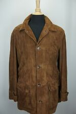 Polo Ralph Lauren Suede Leather Button Up Wool Liner Car Coat Jacket Sz L