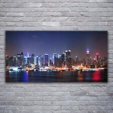 Leinwand-Bilder Wandbild Canvas Kunstdruck 120x60 Wolkenkratzer Skyline