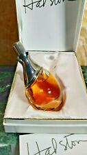 Halston Couture Perfume 1/2 oz Splash by Halston Vintage Rare Glass & Silver!