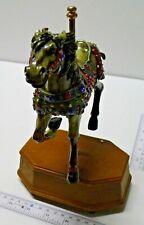 "Carousel Horse Music Box ""Crescent"" by sakiba carousel Ultra RARE"