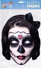 Día de los muertos Tarjeta Máscara Disfraz De Halloween Fiesta De Tarjeta De Dama Española Accesorio