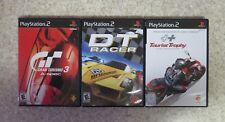 Playstation 2 Lot of 3 DT Racer, Tourist Trophy, & Gran Tourism 3 A-Spec