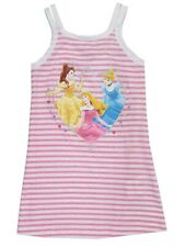Girls, Disney Pink, Cotton Striped, Princess Vest Top - Ages 3-6 Years