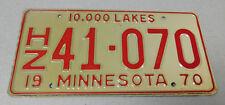 1970 Minnesota house trailer license plate