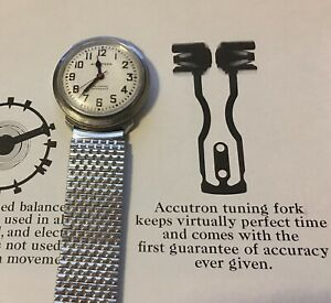 Brick link NOS Bulova stretch band to Accutron Spaceview Astronaut 214 218 watch