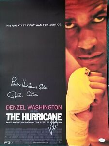 Rubin Hurricane Carter John Artis & Vinnie Pastore signed HURRICANE poster  JSA