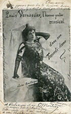 Spectacle Artiste Louis VERNASSIER L'homme protée musical dans son Travesti Dame