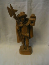 Vintage German Hand Carved Wood Night Guard #<