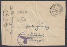 German Reich 1941 Wwii ☀ Feldpost / Deggendorf ☀ 1v used