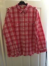 Cotton Traders Mens Pink Check Long Sleeves Size XL