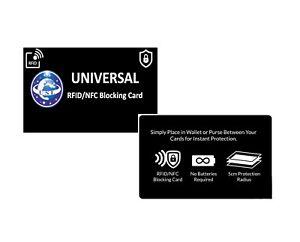 RFID Blocking Credit/Debit Card Protector NFC Contactless Signal Blocker