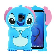 Blue Stitch Case Para Samsung Galaxy S9 Plus +, 3D Cartoon Animal Cute Soft S...